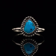 Load image into Gallery viewer, SIZE 8.25 Aqua Blue Morenci Turquoise Gemstone Ring