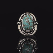 Load and play video in Gallery viewer, SIZE 7.5 Carico Lake Turquoise Gemstone Ring