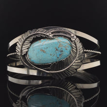 Load and play video in Gallery viewer, Blue Ridge Lightning Turquoise Cuff Bracelet