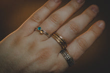 Load image into Gallery viewer, Mixed Metal Colorful Stacking Gemstone Rings Set of 9 // Teal blue Apatite yellow Citrine