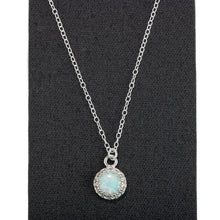 Load image into Gallery viewer, Colorful Opal Gemstone Necklace in Sterling Silver