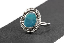 Load image into Gallery viewer, SIZE 6 Blue Boulder Opal Gemstone Ring
