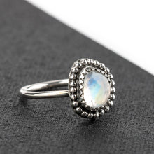 Load image into Gallery viewer, SIZE 3 Rainbow Moonstone Midi Ring