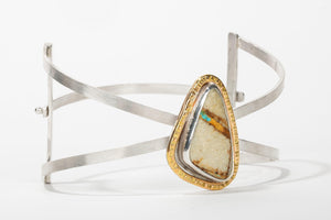 Royston Ribbon Turquoise Cuff Bracelet //The River Valley Collection