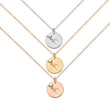 Load image into Gallery viewer, White Sterling Silver Druzy Agate Snowflake Necklace