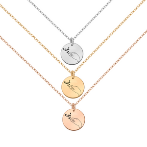 White Sterling Silver Druzy Agate Snowflake Necklace