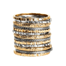 Load image into Gallery viewer, Mixed Metal Stacking Ring Set of 13
