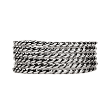 Load image into Gallery viewer, Sterling Silver Twisted Rope Stacking Rings