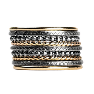 Mixed Metal Stacking Ring Set of 9