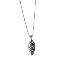 Load image into Gallery viewer, Tiny Silver Fiscus Leaf Necklace