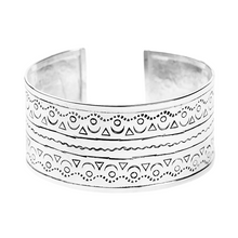 Load image into Gallery viewer, Sterling Silver Aztec Cuff Bracelet