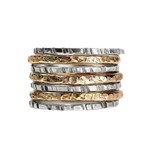 Load image into Gallery viewer, Mixed Metal Stacking Ring Set of 7