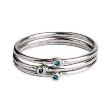 Load image into Gallery viewer, Blue Diamond Stacking Rings