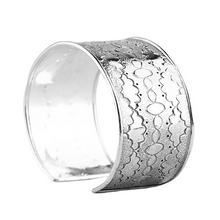 Load image into Gallery viewer, Sterling Silver Aztec Cloud Cuff Bracelet