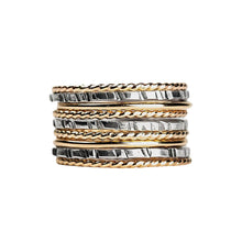 Load image into Gallery viewer, Mixed Metal Stacking Ring Set of 9