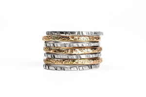 Mixed Metal Stacking Ring Set of 7