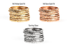 Load image into Gallery viewer, Rugged and Silk Stacking Rings Set of 7