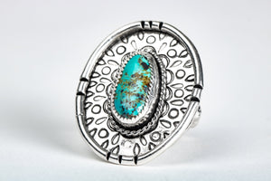 SIZE 8 Kingman Turquoise Gemstone Ring