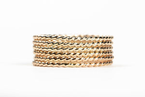 Rugged and Twist Stacking Rings Set of 7