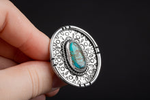 Load image into Gallery viewer, SIZE 8 Kingman Turquoise Gemstone Ring
