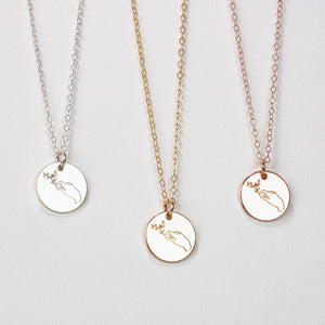 Lady of the Forest Disc Necklace