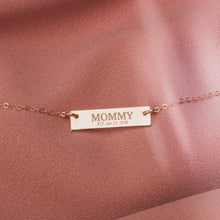 Load image into Gallery viewer, Custom New Mom Bar Necklace
