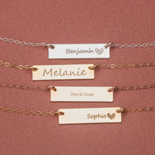 Load image into Gallery viewer, Custom Name Horizontal Bar Necklace