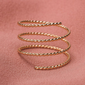 Twisted Double Spiral Ring