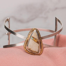 Load image into Gallery viewer, Royston Ribbon Turquoise Cuff Bracelet //The River Valley Collection