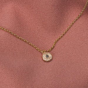 Solid 14K Gold Silvermist Diamond Necklace // The River Valley Collection