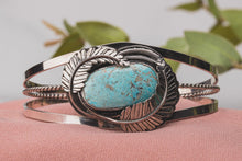Load image into Gallery viewer, Blue Ridge Lightning Turquoise Cuff Bracelet