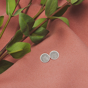 Signature MGJ Aztec Pattern Disc Stud Earrings // The River Valley Collection