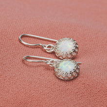 Load image into Gallery viewer, White Opal Gemstone Earrings