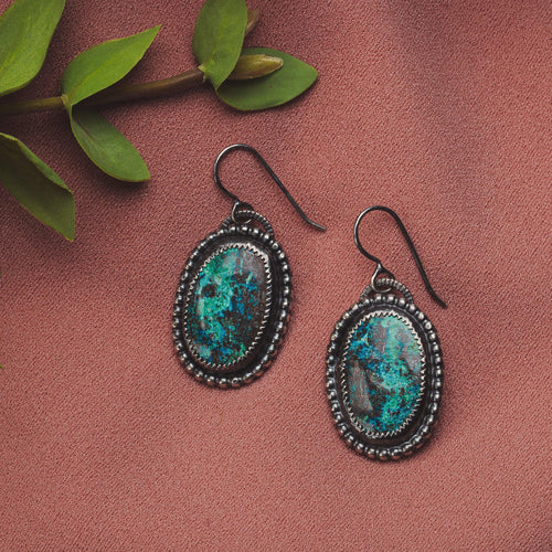 Azurite Gemstone Earrings