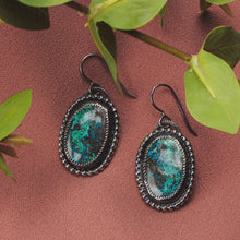 Load image into Gallery viewer, Azurite Gemstone Earrings