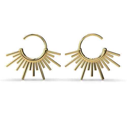 Sun Burst Endless Hoop Earrings