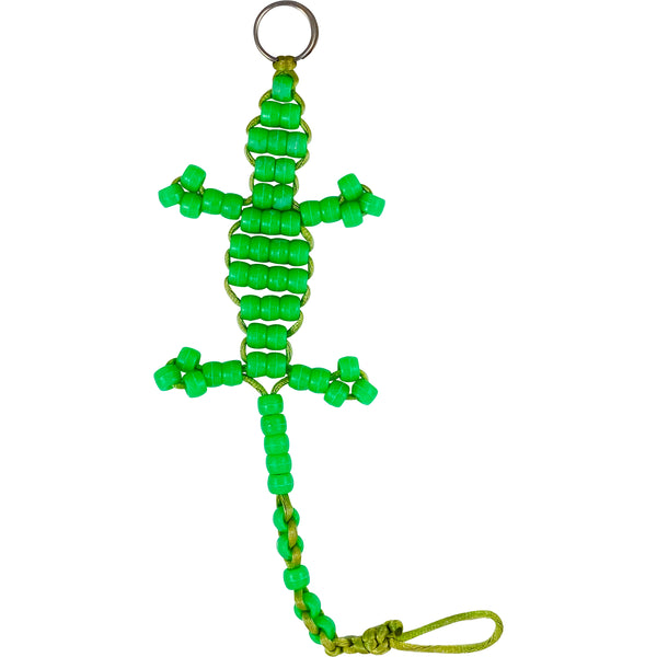 BEADED ALLIGATOR KEY CHAIN