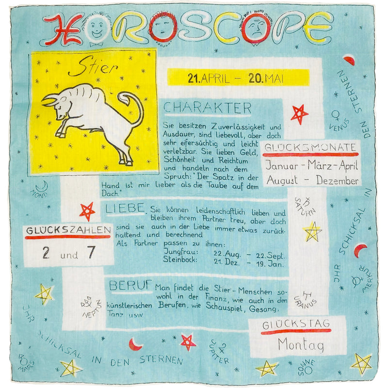 GERMAN HOROSCOPE SCARF