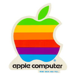 VINTAGE APPLE COMPUTER STICKER - LARGE