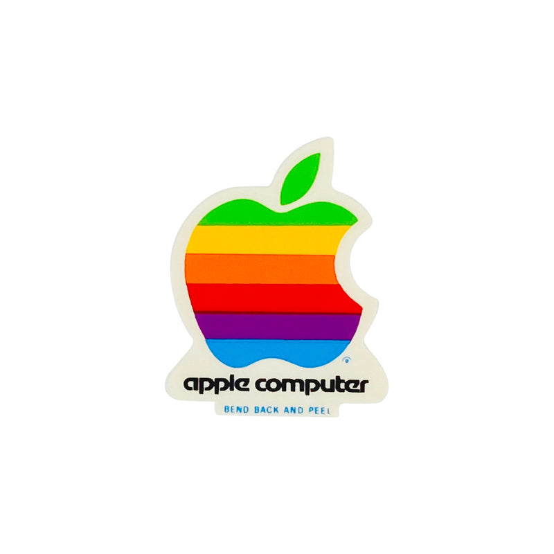 VINTAGE APPLE COMPUTER STICKER - SMALL