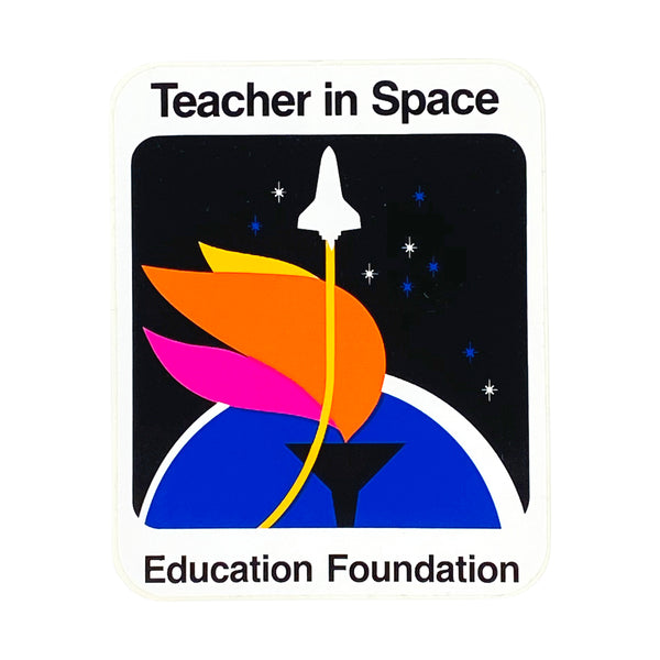 TEACHER IN SPACE CHALLENGER SHUTTLE STICKER