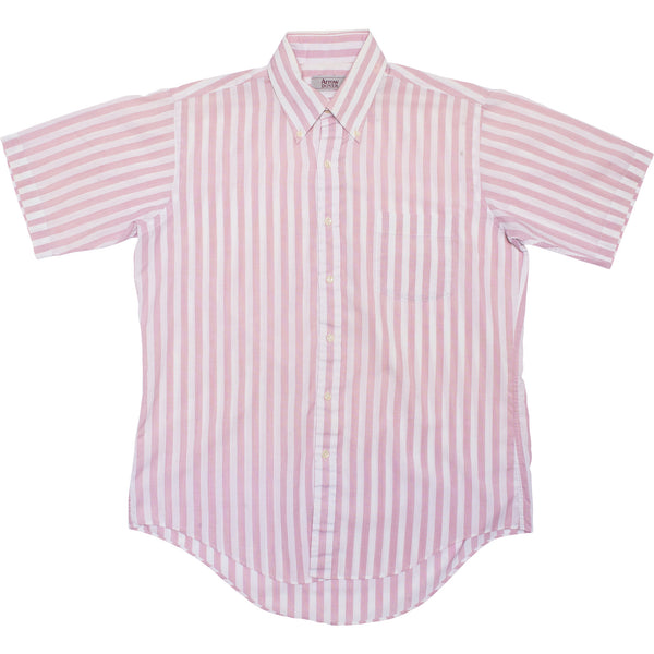 VINTAGE STRIPED SHORT SLEEVE WOVEN