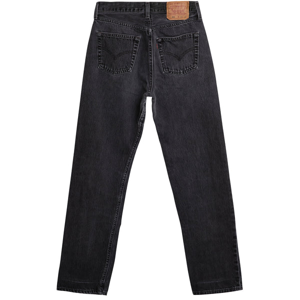 VINTAGE LEVI'S 501 JEANS - BLACK DARK WASH