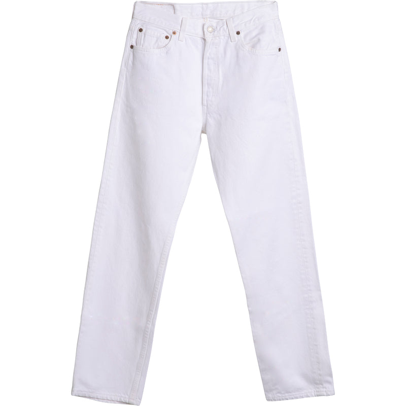 WHITE - VINTAGE LEVI'S 501 JEANS - ALL SIZES