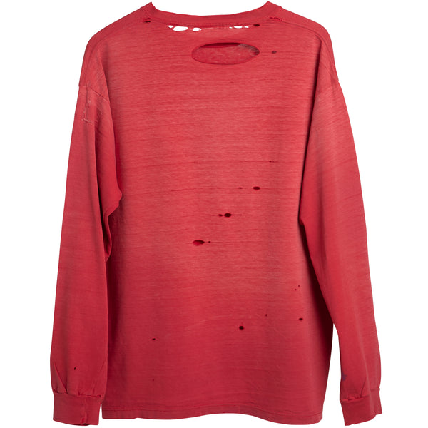 VINTAGE FADED RED L/S TEE