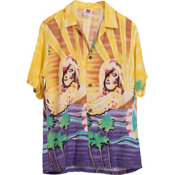 VINTAGE PIN UP HAWAIIAN SHIRT