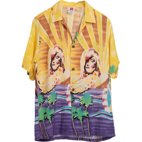 Copy of VINTAGE PIN UP HAWAIIAN SHIRT