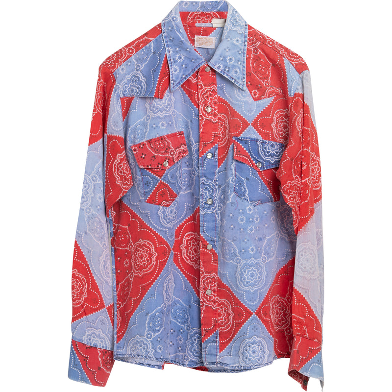 VINTAGE PAISLEY WESTERN SHIRT