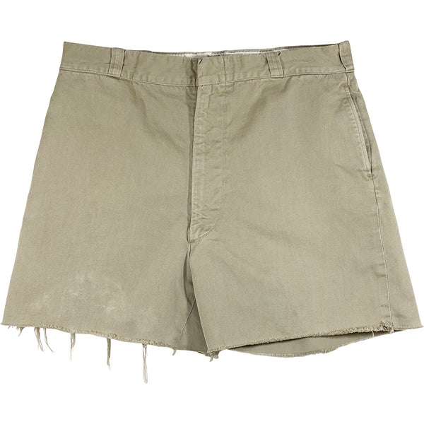 VINTAGE KHAKI CUT-OFF SHORTS
