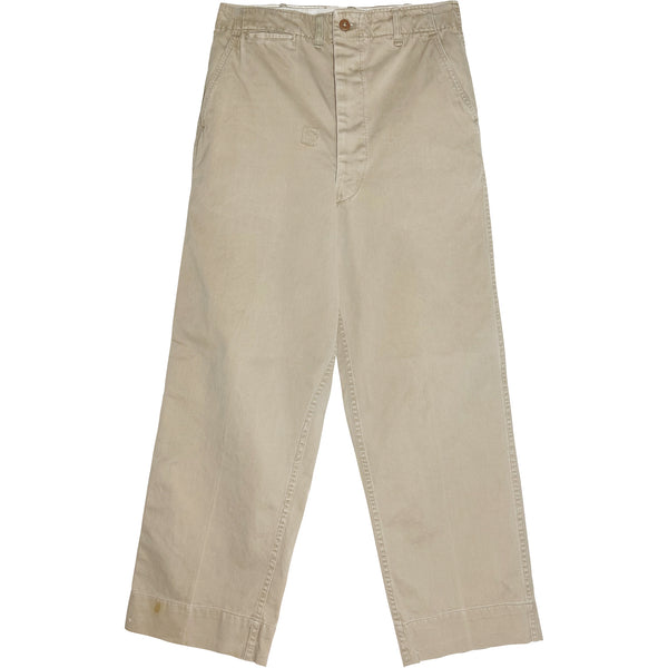 VINTAGE BEAT UP MILITARY CHINOS - Size 28
